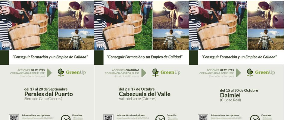 Cursos de Agroturismo del Proyecto GreenUp
