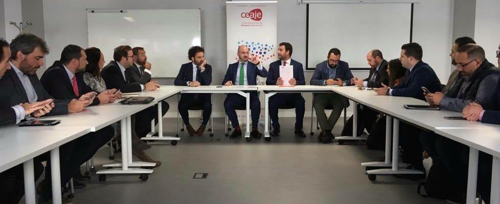 AJE Extremadura en la reunión del Comité Ejecutivo de CEAJE