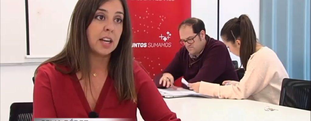 CELINA PÉREZ CASADO, PRESIDENTA DE AJE EXTREMADURA, ENTREVISTADA PARA INFORMATIVOS TELECINCO
