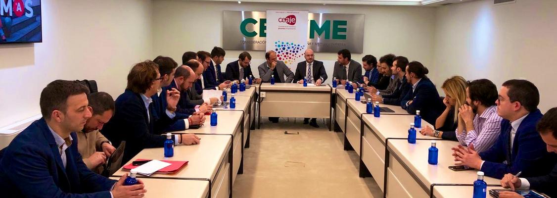 AJE Extremadura participa en la reunión del Comité Ejecutivo de CEAJE
